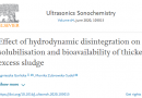 Effect of hydrodynamic disintegration on the solubilisation and bioavailability of thickened excess sludge