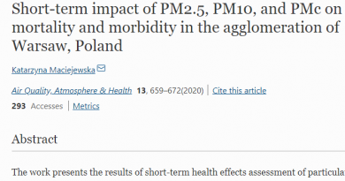 Short-term impact of PM2.5, PM10, and PMc on mortality and morbidity in the agglomeration of Warsaw, Poland
