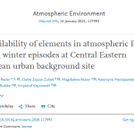 Bioavailability of elements in atmospheric