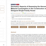 Geometric Aspects of Assessing the Amount of Material Consumption