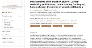 Measurements and Simulation Study of Daylight Availability
