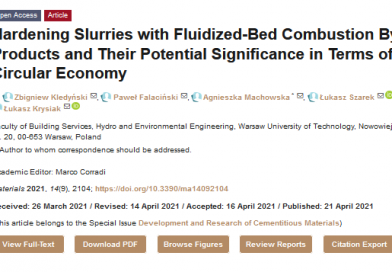 Hardening Slurries with Fluidized-Bed Combustion By-Products and Their Potential Significance in Terms of Circular Economy