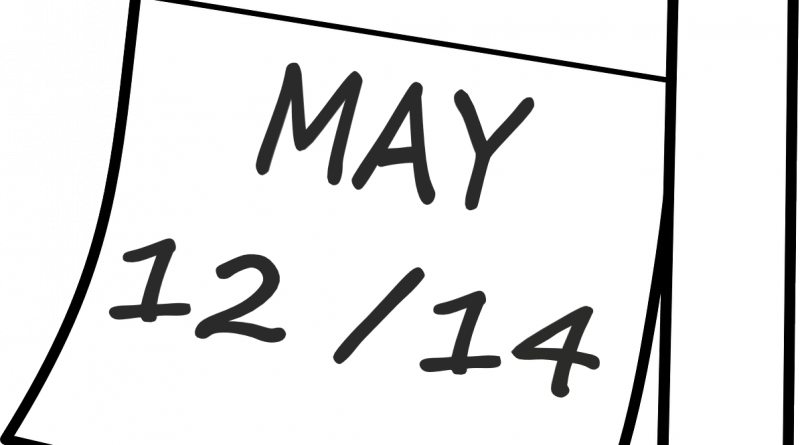 Wednesday, May 12 – Friday's schedule