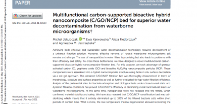 Multifunctional carbon-supported bioactive hybrid nanocomposite (C/GO/NCP) bed for superior water decontamination from waterborne microorganisms