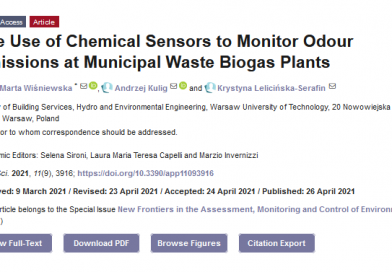 The Use of Chemical Sensors to Monitor Odour Emissions at Municipal Waste Biogas Plants