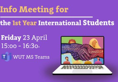 Info meeting for students accepted in the academic year 2020/2021 for studies in English