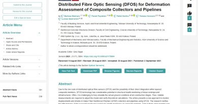 Distributed Fibre Optic Sensing (DFOS) for Deformation Assessment of Composite Collectors and Pipelines